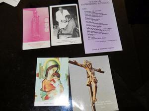 lote de 5 estampas y postales religiosas antiguas
