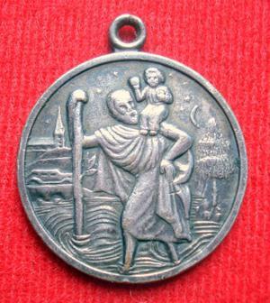 medalla san cristobal patrono del automovilista y calvario