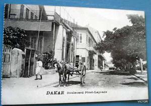 postal antigua dakar calles de la ciudad