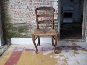 silla provenzal con asiento de paja