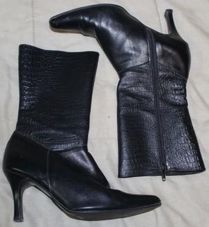 Botas Negras con taco (caña alta)