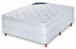 Colchon Y Somier De Dos Plazas Jacquard Pillow Super