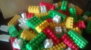 Juego de bloques grandes 100 piezas usado