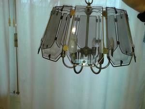 LAMPARA COLGANTE ANTIGUA + LAMPARA DE PARED