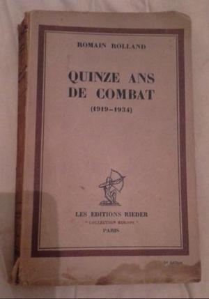 LIBRO QUINZE ANS DE COMBAT - EDICION