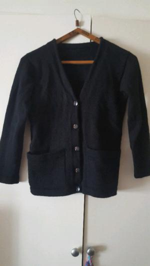 Saco de lana negro talle S