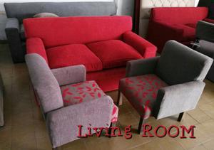 Sofa de living + sillas materas