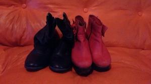 Vendo combo de botas de cuero
