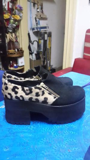Zapatos de gamuza con print