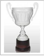 Copa De Metal Con Base De Madera. Trofeos.