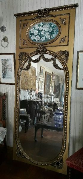 Espejo Biselado Antiguo Dorado