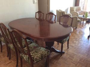 Mesa madera estilo comedor grande