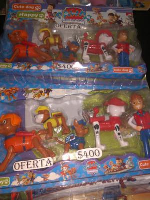 Set de Patrulla Canina 5 muñecos $400