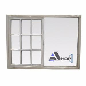 Ventana Aluminio 150x110 Vidrio Repartido Abershop