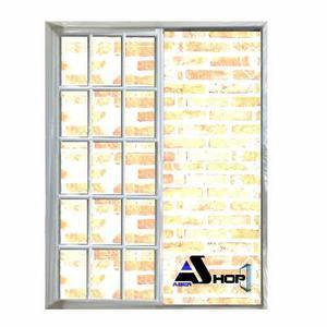 Ventana Aluminio 200x200 Balcon Vidrio Repartido Abershop