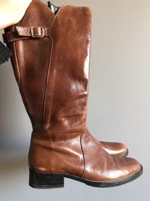 Botas de cuero marron