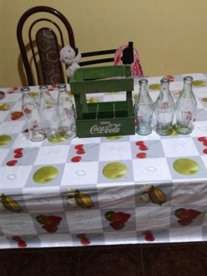 Botellas de Coca Cola antigua