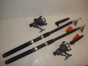 Super Kit 2 Cañas De 3,60 Mts+ 2 Reeles Pejerrey. Oferta!!!