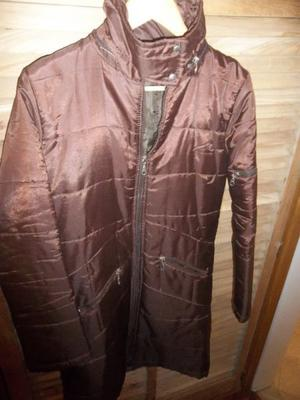 CAMPERA INFLABLE TALLE S-M - $200 - COLOR MARRON Y OTRA