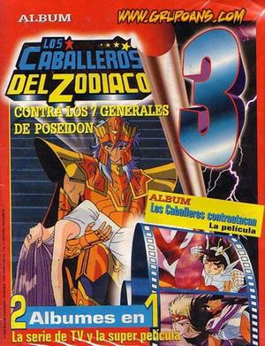 Los Caballeros Del Zodíaco Album De Figuritas