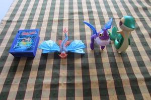 Lote de 4 muñecos de MacDonalds de dragones y Scooby Doo!!,