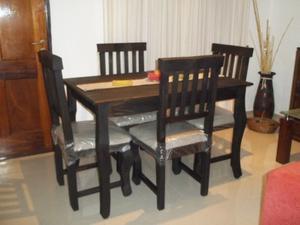 NUEVO !!Comedor Rustico 4 sillas !! Flete sin cargo !!