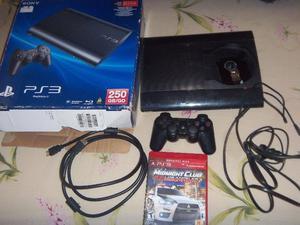 PS3, Play 3, Playstation 3, slim 250gigas, en caja