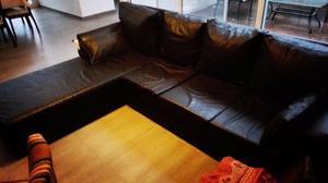 Sillon esquinero Cuatro cuerpos Negro de 2,70 x 2,00