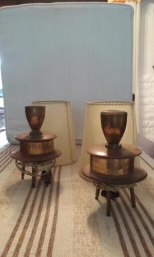Veladores bronce. Antiguos.