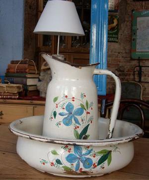 jarra y jofaina alemana estilo art nouveau