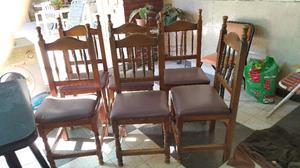 vendo 6 sillas madera