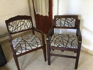2 sillones de living de madera. vintage