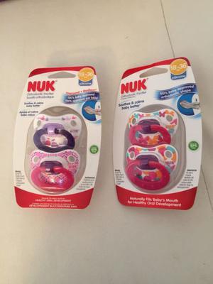 Chupetes Nuk 18 a 36 meses originales, nuevos