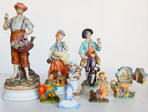 El Restaurdor- Liquido Lote de 8 figuras de porcelana