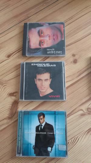 """Enrique Iglesias 3 cds originales + cd """"Enrique"""" grabado de"""