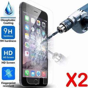 Film Vidrio Templado Iphone 5 5s Se 6 6s 7 7 Plus (pack X2)