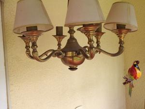 Lámparas y araña en bronce