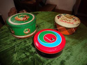 Lote x 3 antiguas latas. Antigua Saudade