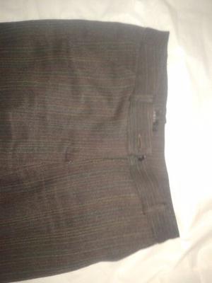 Pantalon de vestir ORIX lanilla jaspeada marron poco uso