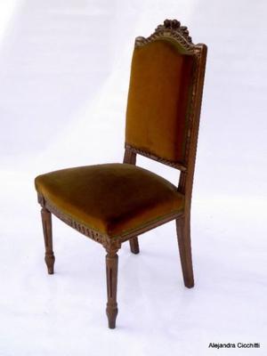 1 sola silla estilo luis xvi para pintar o posot class for Sillas de estilo luis xvi