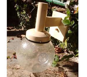 Vendo aplique bola vidrio con burbujas de 1 luz.
