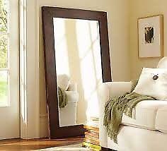 espejo grande de entrada o vestidor marco madera eucaliptus