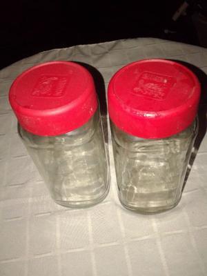 frascos de vidrio vacio de cafe $10 y mermeladas con