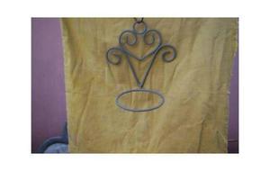 macetero en hierro forjado para pintar pintar $150 c/u