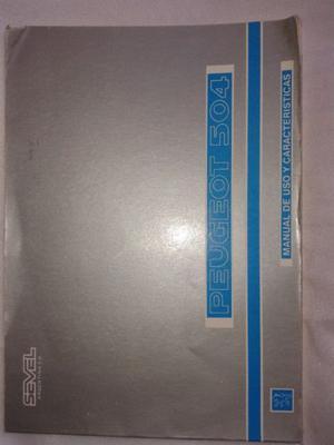 Manual De Uso Peugeot 504 Modelo Srx Sr2 Srx2d 92 Posot Class