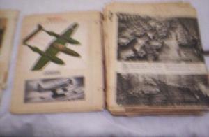 recorte guerra diarios  aviones (fotos y escritos)$200