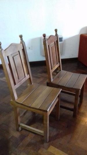 sillas de algarrobo tablero torneadas