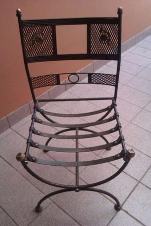 vendo hermosos sillones y sillas de hierro forjado para mesa