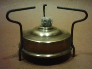 Antiguo Calentador a Alcohol con Tanque de Bronce