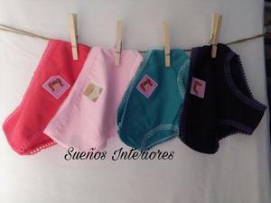 Bombacha Nena Clásica Pack X 12 Lisa Surtido Colo Algod T.